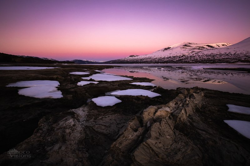 trollheimen,gjevilvatnet,norway,norwegian,nature,mountains,sunset,pink,reflections,ice,snow,spring, Sping in the mountainsphoto preview