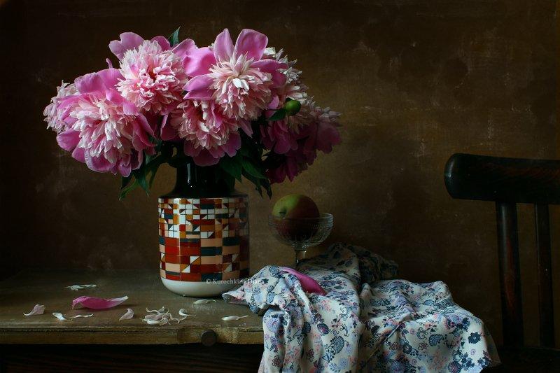натюрморт, цветы, букет, пионы, июнь Июньphoto preview