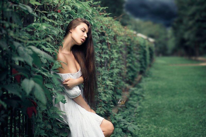 пленэр, лето, девушка, в белом, парк, москва, фотограф, арт Лето фото превью