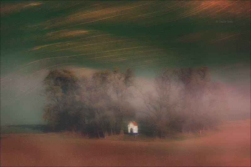 южная моравия,пейзаж,линии,south moravian,часовенка,lines,свет,czech,осень,чехия,landscapes,поле, DREAMSphoto preview