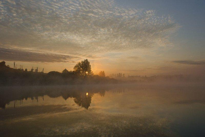 утро, рассвет, восход, пейзаж, осень, архангельское Раннее утро сентябряphoto preview