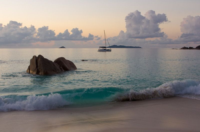 закат, сейшеллы, sunset, seychelles ***photo preview