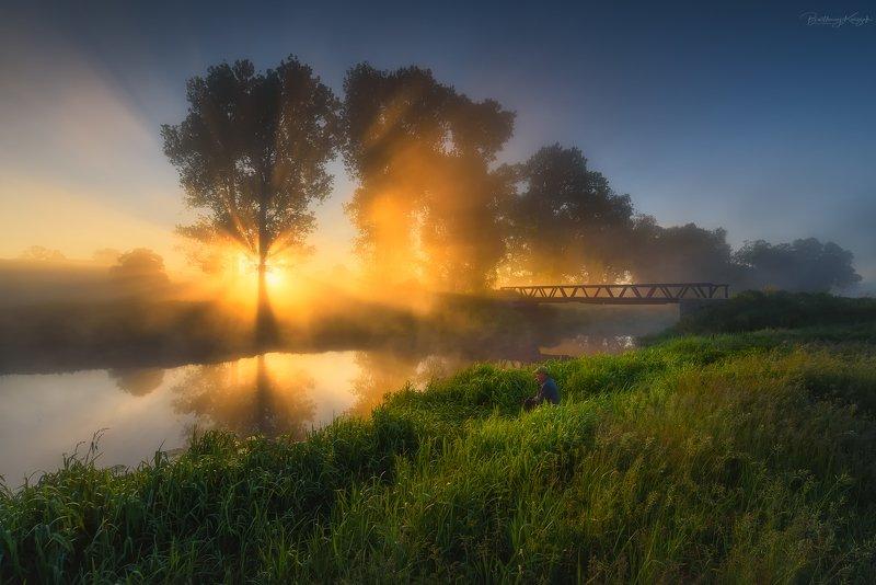 morning, june, river, poland, ner, spring June morningphoto preview