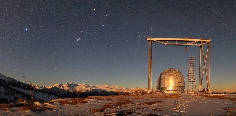 ночь звезды бта сао ночной пейзаж астрофотография млечный путь Специальная Астрофизическая Обсерваторияphoto preview