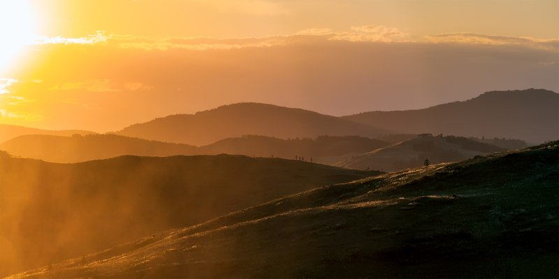 утро, рассвет, закат, туман, лучи Этюд в закатных тонахphoto preview