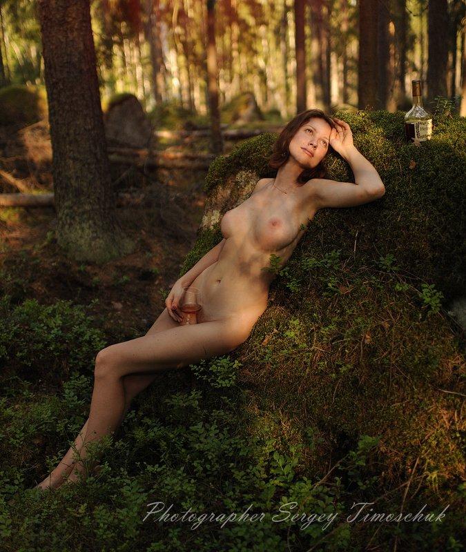 девушка лес Черничное настроение)photo preview