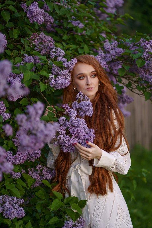 girl, portrait, redhead, redhair, summer, flowers, sony a7 III, sony 85/1.8, девушка, лето, цветы, сирень, рыжая, путьсамурая Annaphoto preview