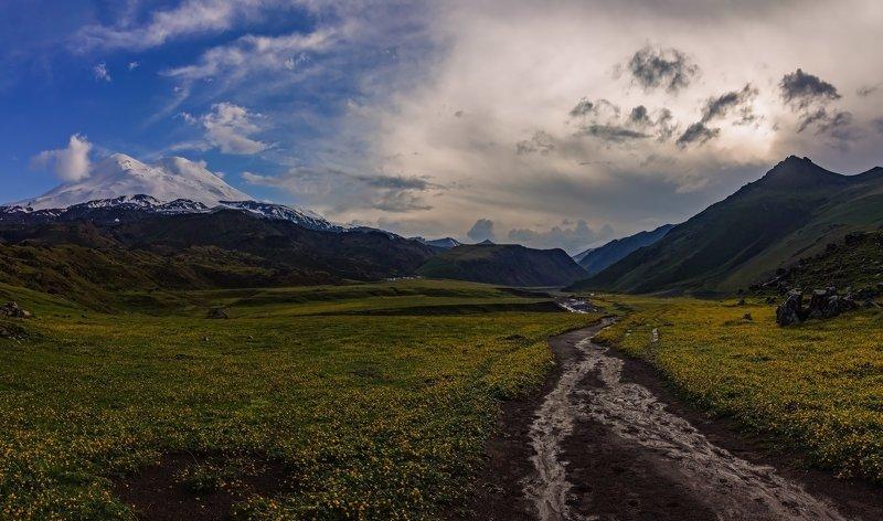 горы, эльбрус,кавказ дорогами Джилысу...photo preview