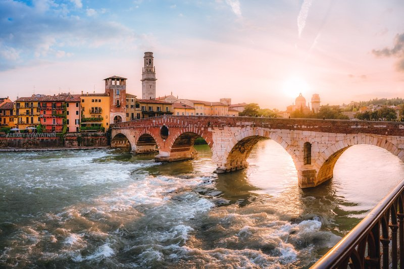 italy, italian, sunset, verona, urban, италия, верона, закат, город Итальянское настроение.. фото превью