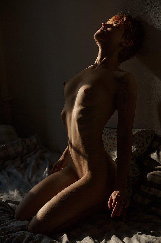 девушка обнажённая натура ню Игра светаphoto preview