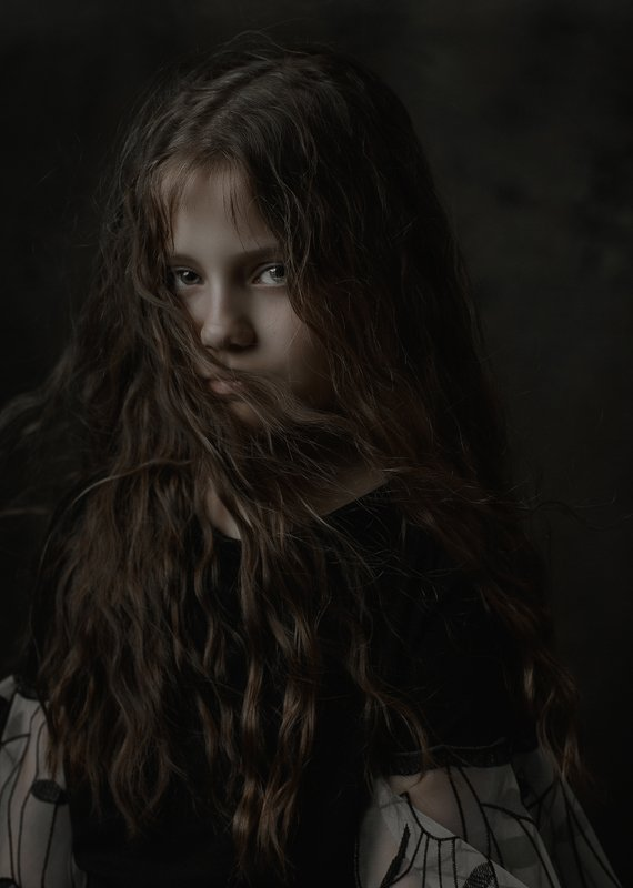 девочка портрет кудри волосы girl portrait hair wind ветер Margaritaphoto preview