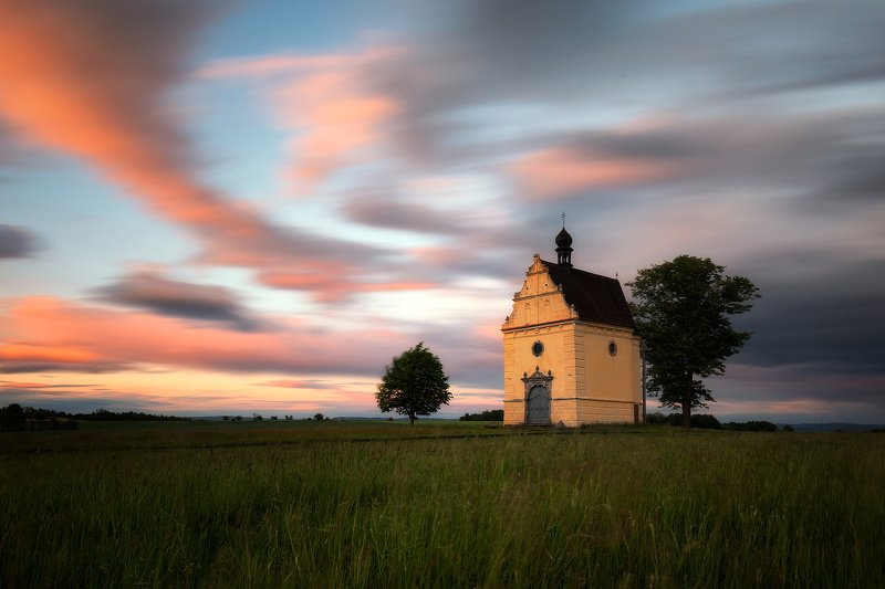 landscape, tree, sunset, panorama, chaple Color of Evening (Chaple Úsov)photo preview