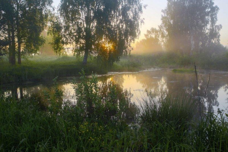 утро туман  б.холм вода состояние Тихое утроphoto preview