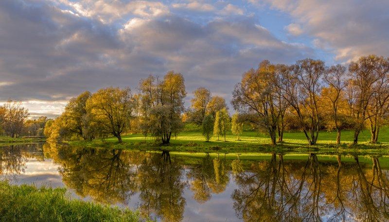 павловск, вечер, река славянка Река Славянка.photo preview