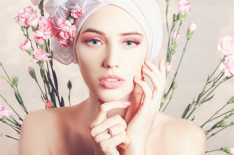 woman, beauty, fashion, art, studio, light Dianthusphoto preview