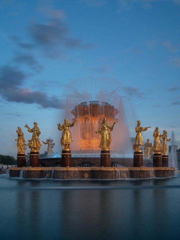 город, фонтан, архитектура, москва, вднх, лето, вода, парк, достопримечательность Дружба народовphoto preview