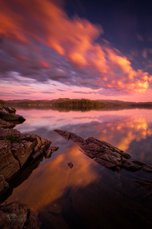 norway,nature,sky,lake,reflections,north,norwegian,sunset,colorful,long exposure Crossing cloudsphoto preview