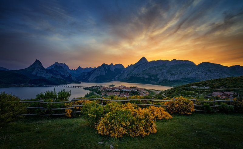 landscape, mountains, sunset, colors, nature, beautiful, travel Sunsetphoto preview