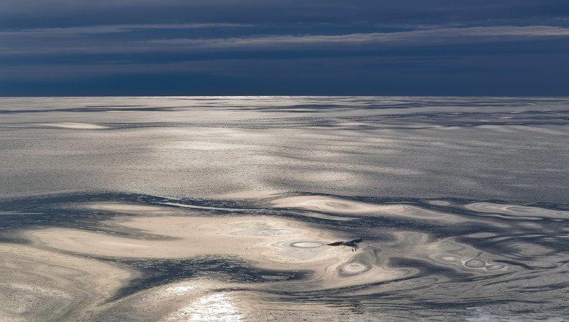 зима, охотское море, февраль, чайка, штиль, шуга liquidphoto preview