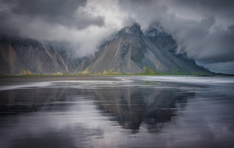 исландия,iceland об рифы скалphoto preview