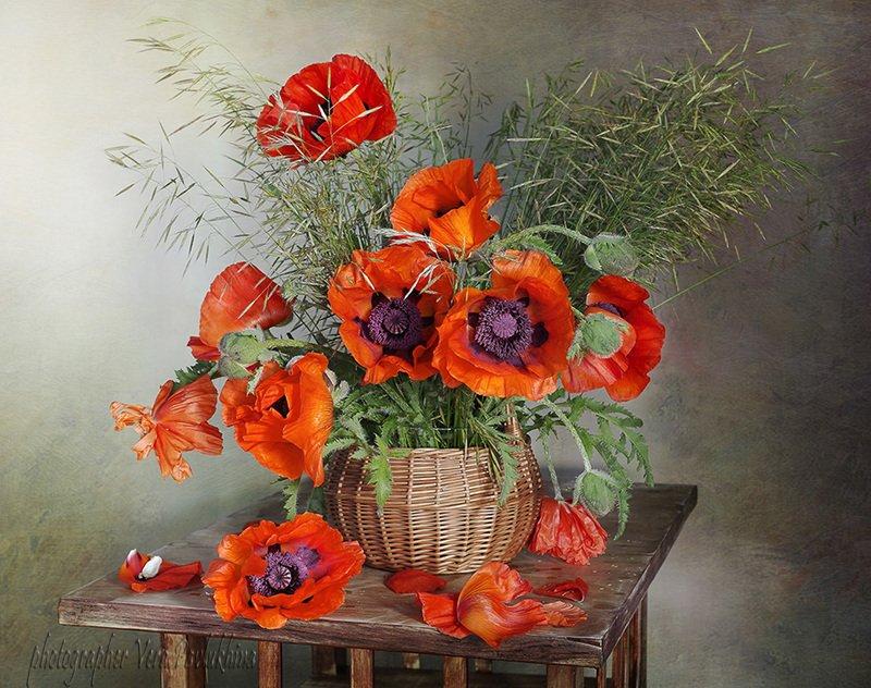 маки,натюрморт,цветы,июнь,вера павлухина, С маками .photo preview