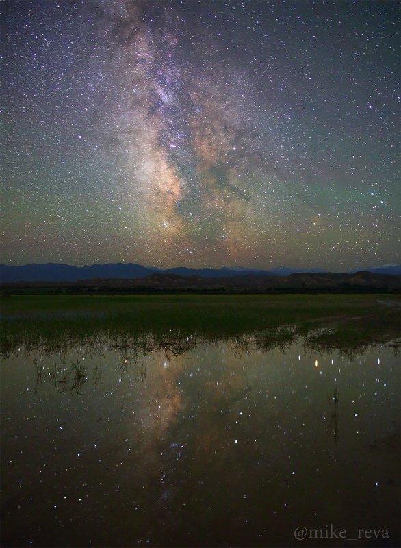 ночь звезды иссык-куль ночной пейзаж астрофотография млечный путь Mirror for the skyphoto preview