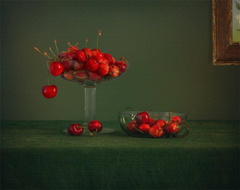 still life, натюрморт,    винтаж,  ягода, черешня, еда, минимализм натюрморт с черешнейphoto preview