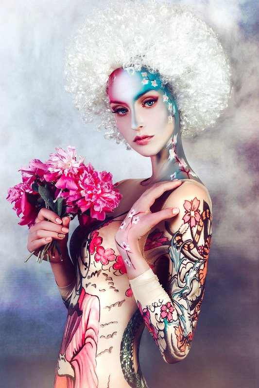 woman, beauty, fashion, art, studio, light I Am the Blossomphoto preview
