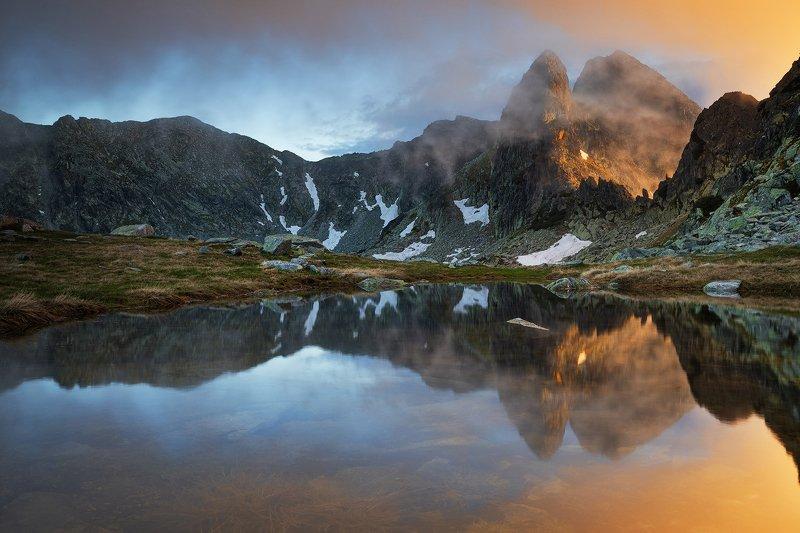 summer, light, sunset, peaks, landscape, travel, nature, mountain, romania, cold, retezat Sunset Lightphoto preview