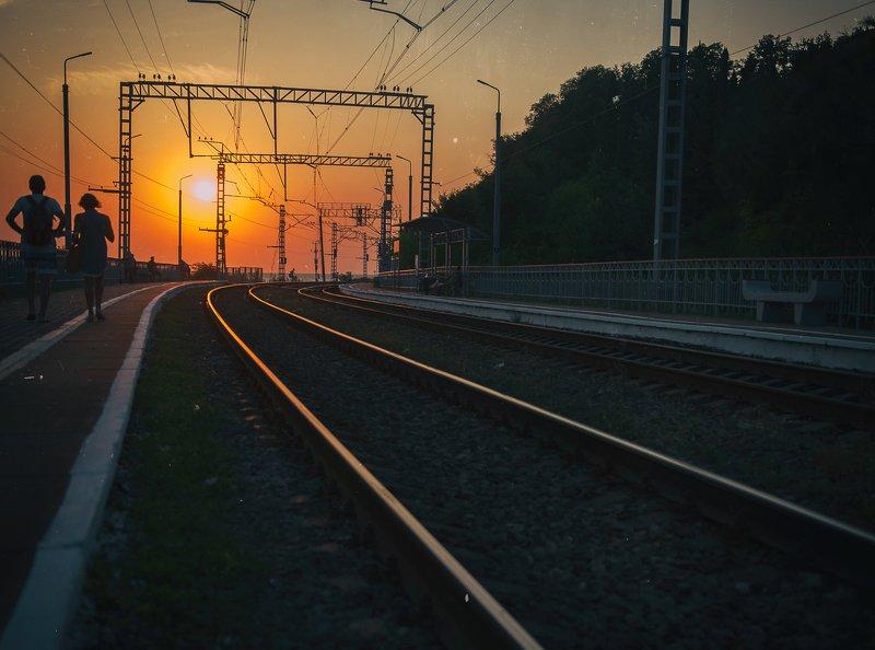 закат на станции.photo preview