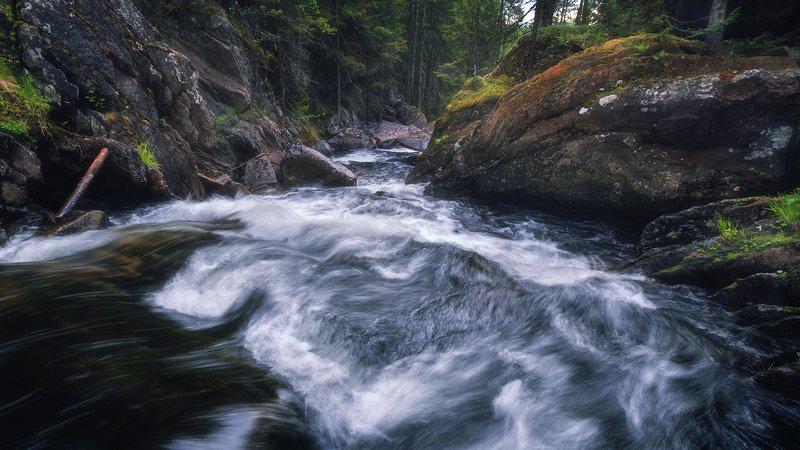 пермский край, жигалан, река, россия, панорама, урал, пейзаж, водопад, северный урал Каскады Жигаланаphoto preview