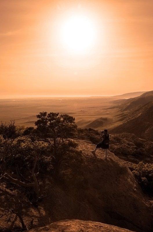 утро,горы,вершины,пейзаж,небо,деревья,дагестан,природа Утренний пейзаж..photo preview