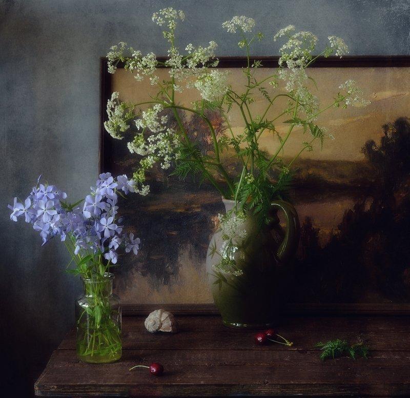 натюрморт,цветы,лето,картина с картиной) фото превью