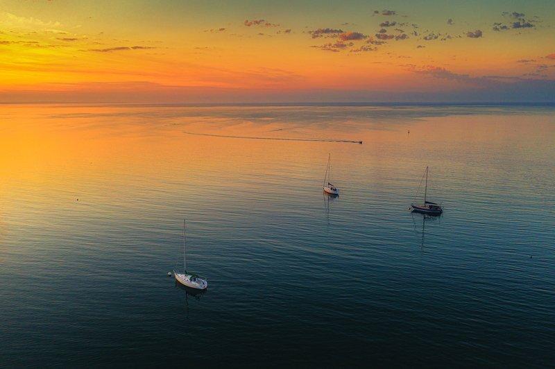 Summer sunset фото превью