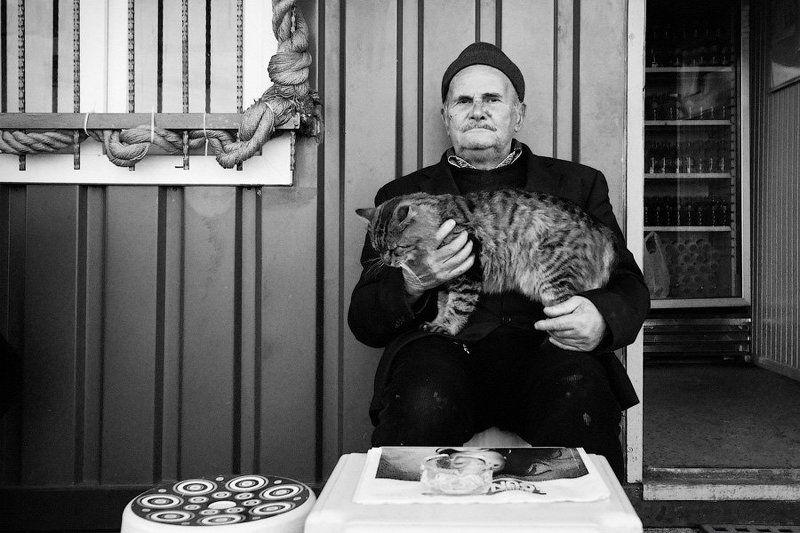 старик, кот, стамбул Два товарищаphoto preview