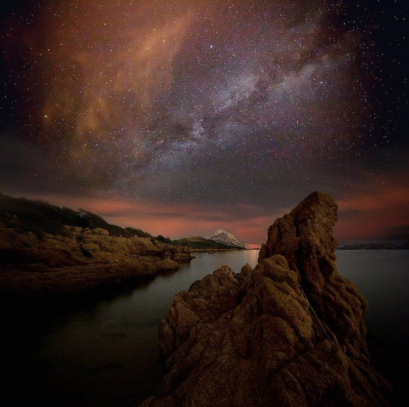 milky way,stars,man Connection With Spacephoto preview