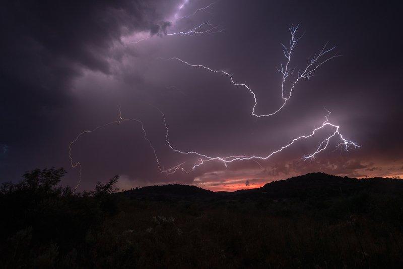 storm; lightning; thunderstorm; aude; france; clouds; sky Thunderstormphoto preview