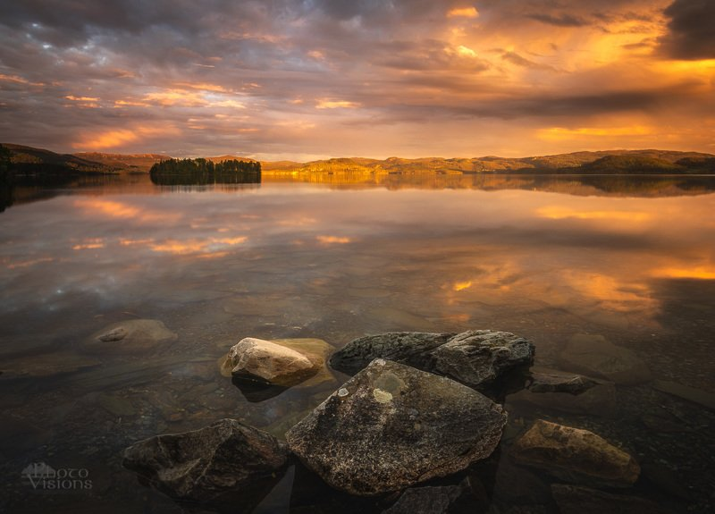 norway,norwegian,landscape,sunset,lakeside,reflections,mood,moody, Sunset moodphoto preview