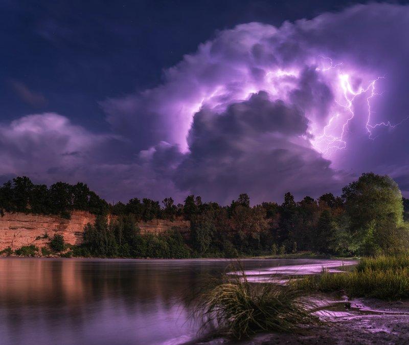 гроза, молня, облако, река белая, каменномостский, Облако генерирующее молнииphoto preview