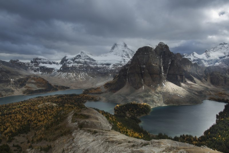 assiniboine, rockies, mountains, горы, канада Вечерний свет в горахphoto preview