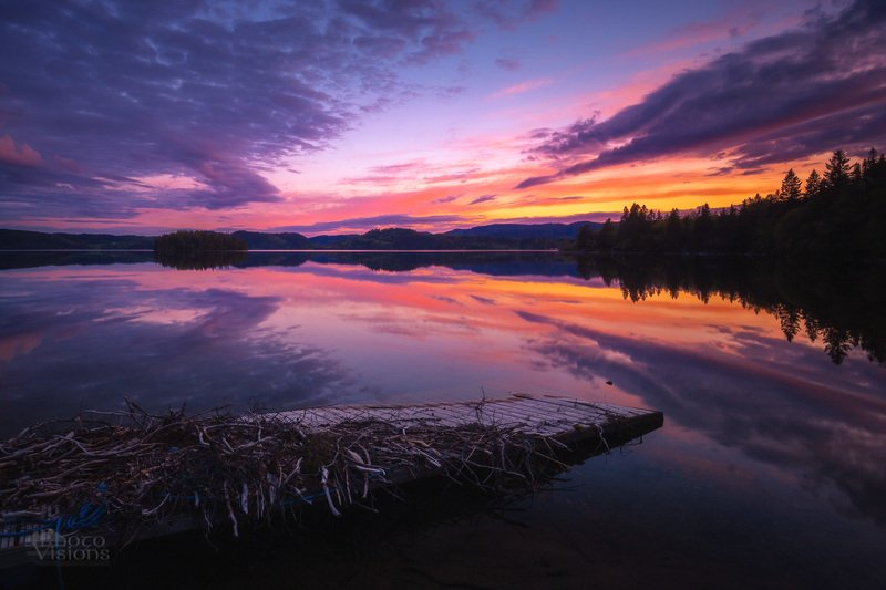 sunset, light,mood,norway,lake,reflection,norwegian,boreal,forest, After sunset lightphoto preview