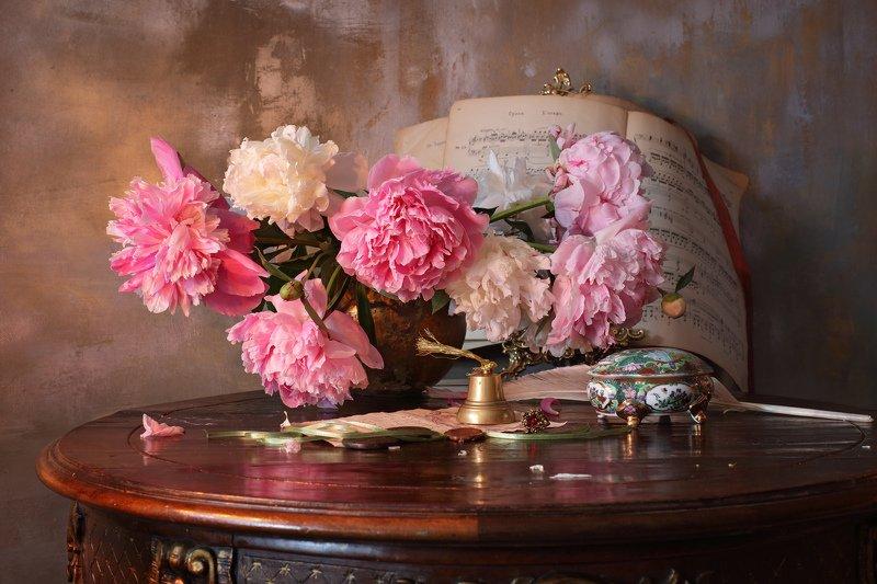 цветы, пионы, лето, натюрморт Натюрморт с пионамиphoto preview