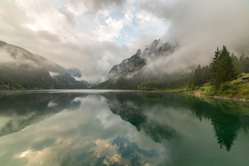 австрия, альпы, горы, озеро Озеро Гозауphoto preview
