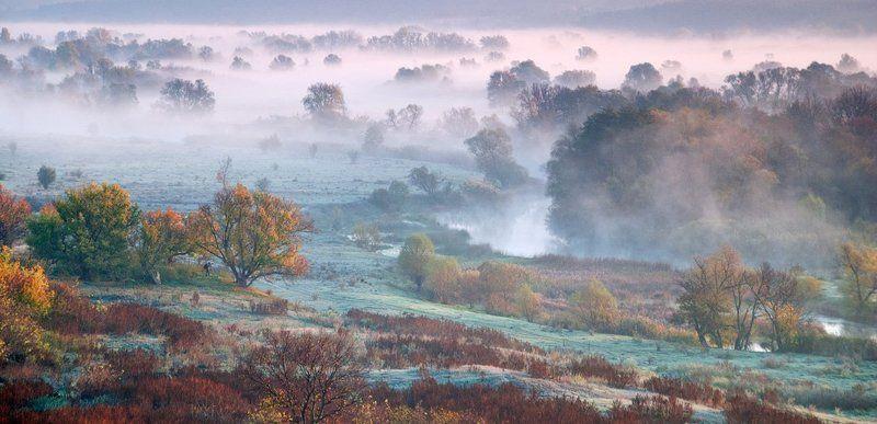 осень, туман, речка , фотограф - пейзажист пейзажист - 2photo preview