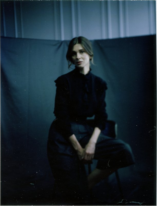 polaroid, land camera, woman,portrait ***photo preview