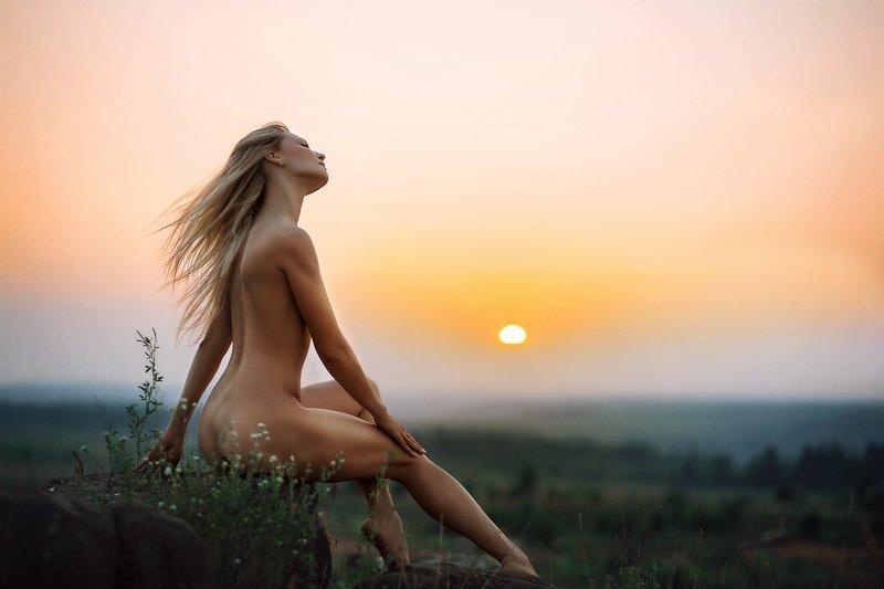 девушка, закат, солнце, красивая, изящная, lady, beautiful, sunset Девушка и закатphoto preview