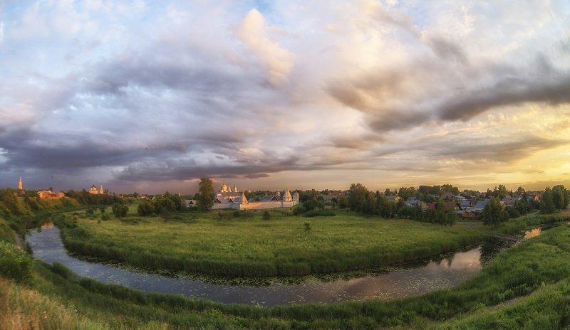 суздаль лето вечер закат река монастырь Суздальские вечера.photo preview