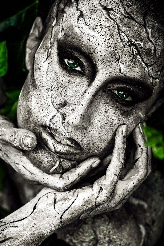 woman, beauty, portrait, art, face art, outdoors Mother Earthphoto preview