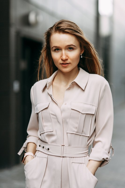 portrait, russian girl, street, model Дианаphoto preview