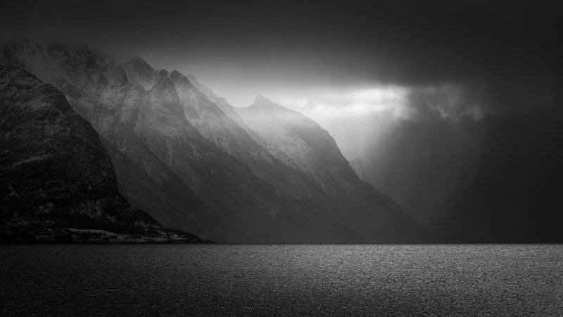 norway,landscape,light,b&w Norwayphoto preview